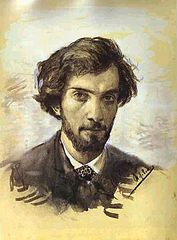 Levitan self-portrait at age 20.