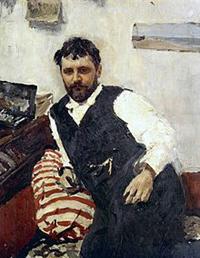 Portrait of Konstantin Korovin by Valentin Serov (1891)