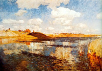"""The Lake. Russia"" (1900), Levitan's last great work."