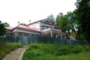 The manor house at Abramtsevo is being restored.