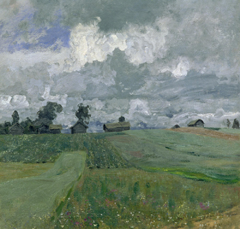 "Levitan's ""Stormy Day"" (1897) is an excellent example of his evolution towards a more modernist style of landscape painting in the last few years of his life."