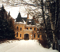 Morozov's castle at Uspenskoe outside of Moscow.
