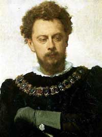 "Ivan Kramskoy's portrait of Alexander Lensky as Petruchio in ""The Taming of the Shrew"" (1883). Tretyakov Gallery, Moscow."