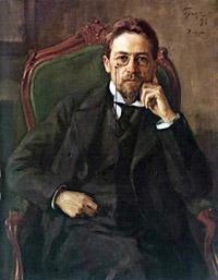"""Osip Braz, """"Portrait of A. P. Chekhov"""" (1898)"""